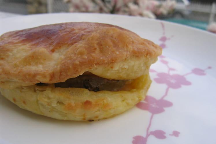 Feuilletés de foie gras aux pommes