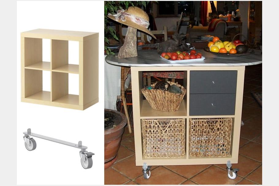 Desserte roulettes home made for Du tellier meuble