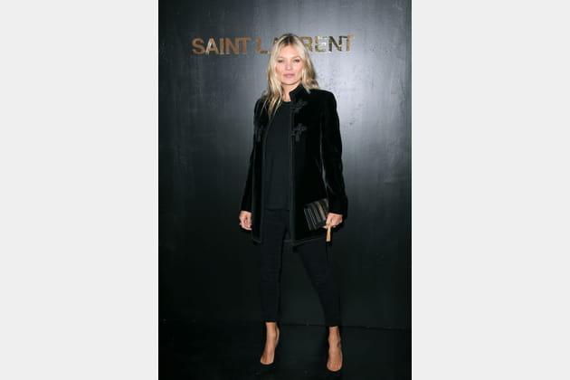 Kate Moss au défilé Saint Laurent