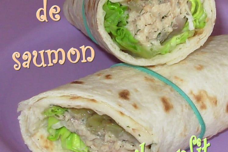 Wraps au rillettes de saumon et fenouil confit