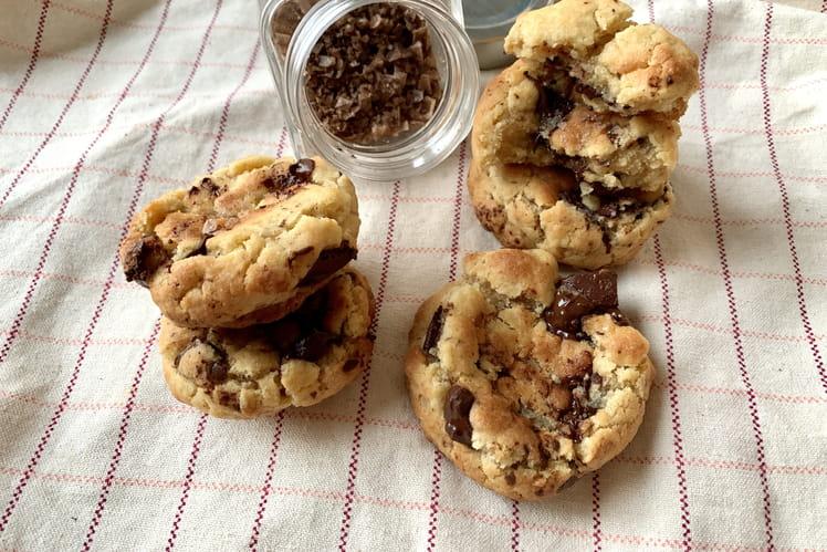 Cookies fondants au sel fumé