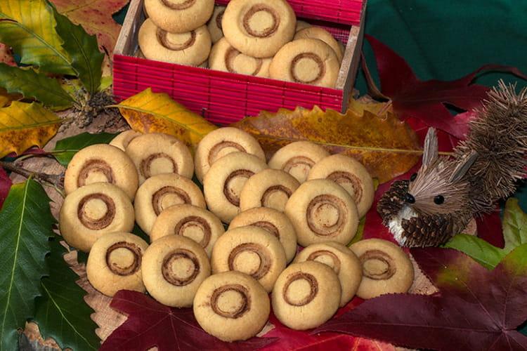 Biscuits sablés champignons