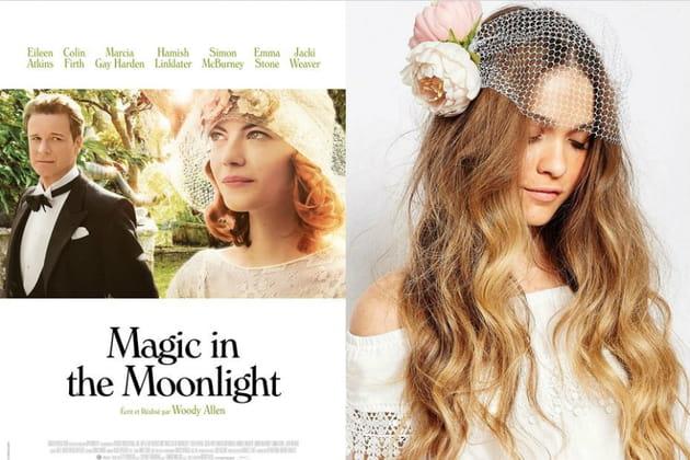 """Un accessoire de tête en fleurs façon Sophie Baker dans """"Magic in the Moonlight"""""""