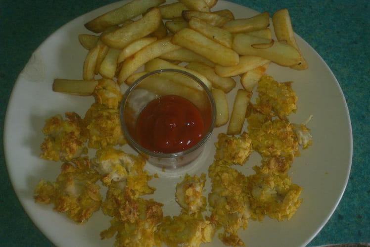Nuggets de poulet aux corn flakes