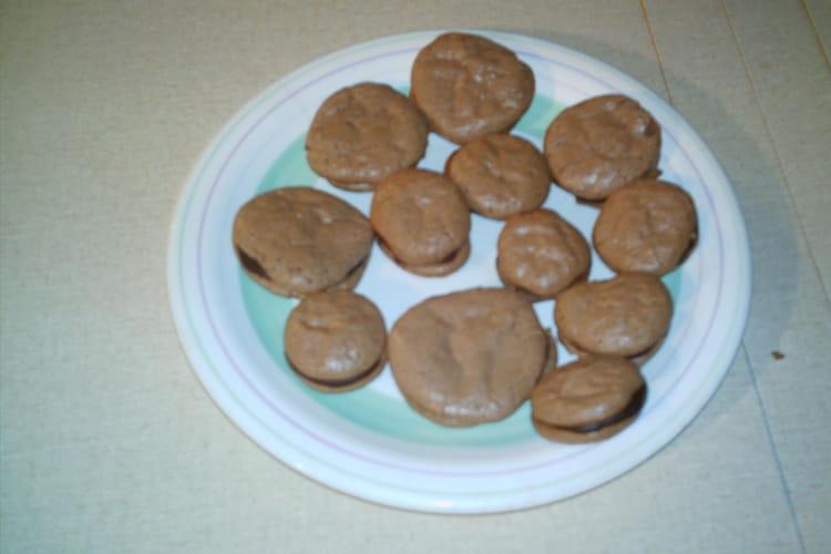 Macarons au chocolat et noix de coco