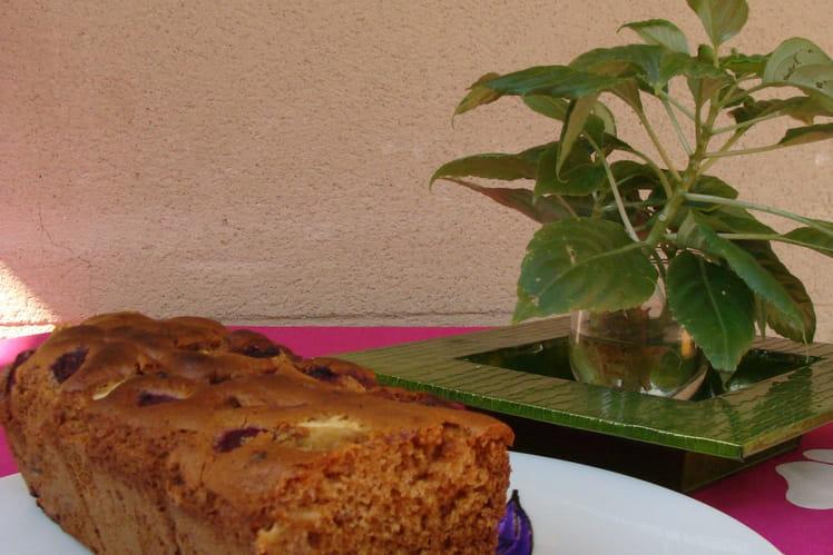 Cake framboise pomme raisin