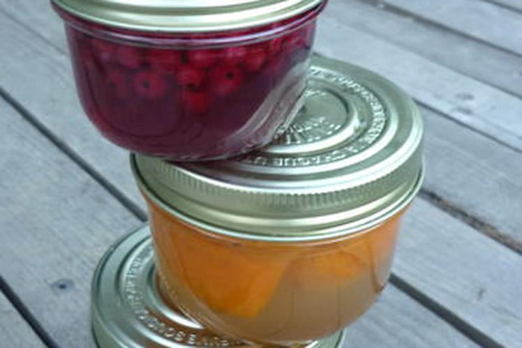 Fruits d'été en sirop de verveine