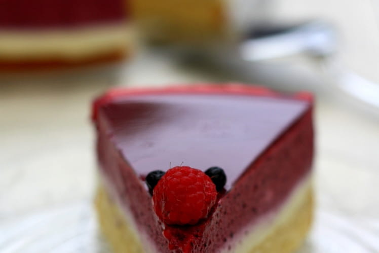 Bavarois aux fruits rouges et à la vanille bourbon