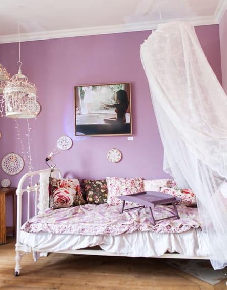 Ambiance romantique des chambres d co r serv es aux filles journal des fe - Chambre ambiance romantique ...