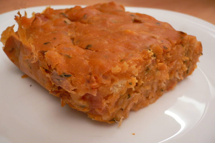 Cake minute saumon-tomates-olives