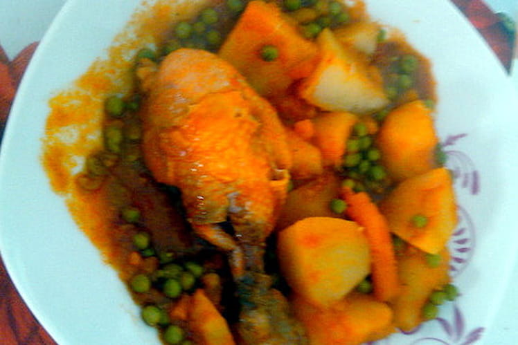 Tajine de poulet au légumes