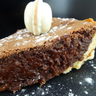 tarte fondante chocolat-grand marnier