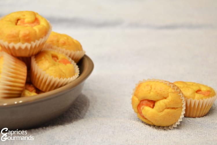 Mini muffins aux crevettes et au curry
