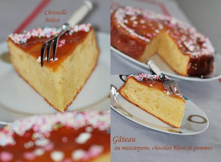 Recette de g teau au mascarpone chocolat blanc et pommes - Cuisiner avec du mascarpone ...