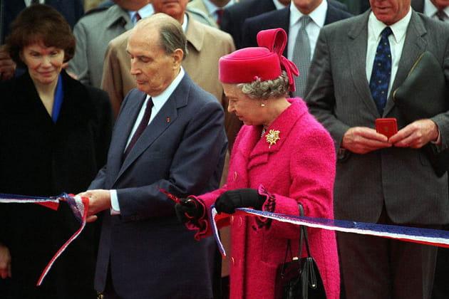 Inauguration avec la Reine Elisabeth II d'Angleterre de l'Eurotunnel, 1994