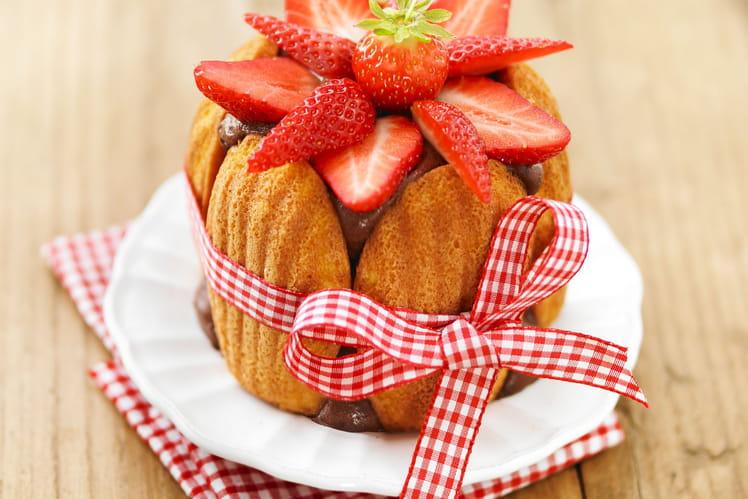 Charlotte aux fraises et chocolat