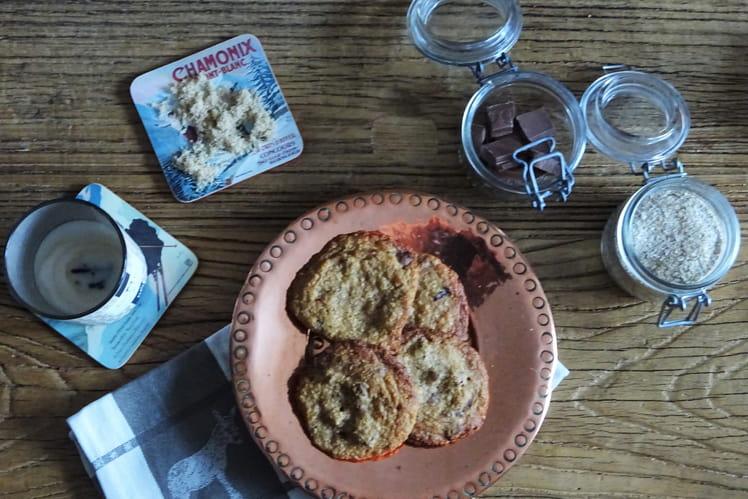 Cookies Oatmeal au chocolat et noix de pécan
