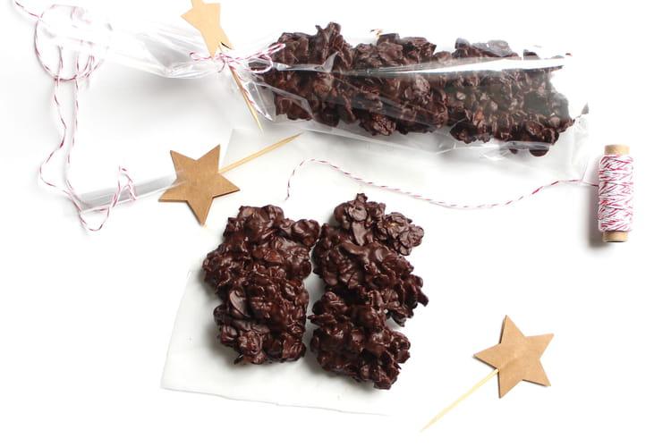 Roses des sables amandes et chocolat noir