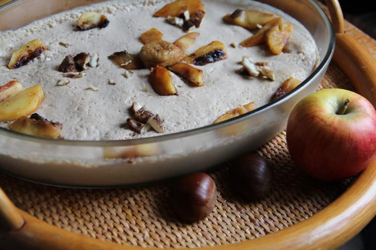 Tiramisu d'automne aux pommes et châtaignes