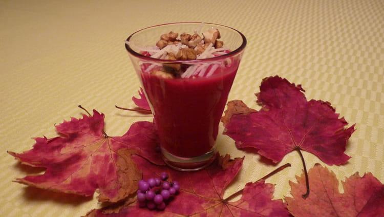 Verrines la betterave rouge et au topinambour - Cuisiner des betteraves rouges ...