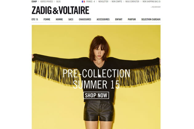 Le e-shop de Zadig & Voltaire