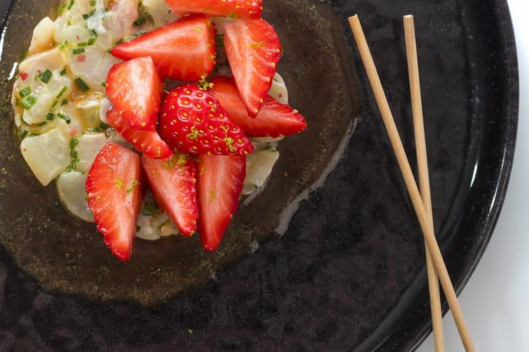 Tartare de daurade et fraises passion
