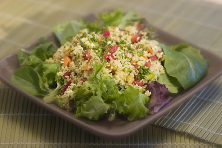 Salade de couscous aux figues et au persil