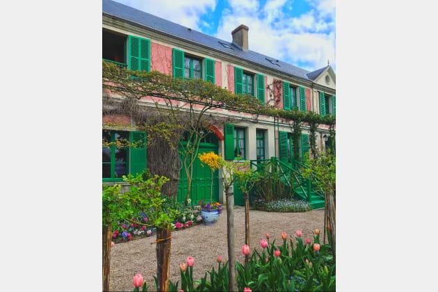 La maison rose et verte de Claude Monet