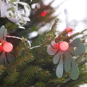 feuilles de houx à fixer sur guirlande lumineuse d'ikea
