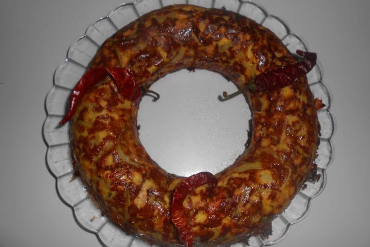 Savarin de courgettes et saumon