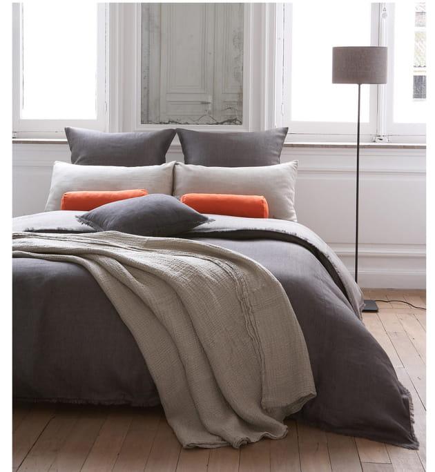 parure de lit en lin par lina forlino. Black Bedroom Furniture Sets. Home Design Ideas