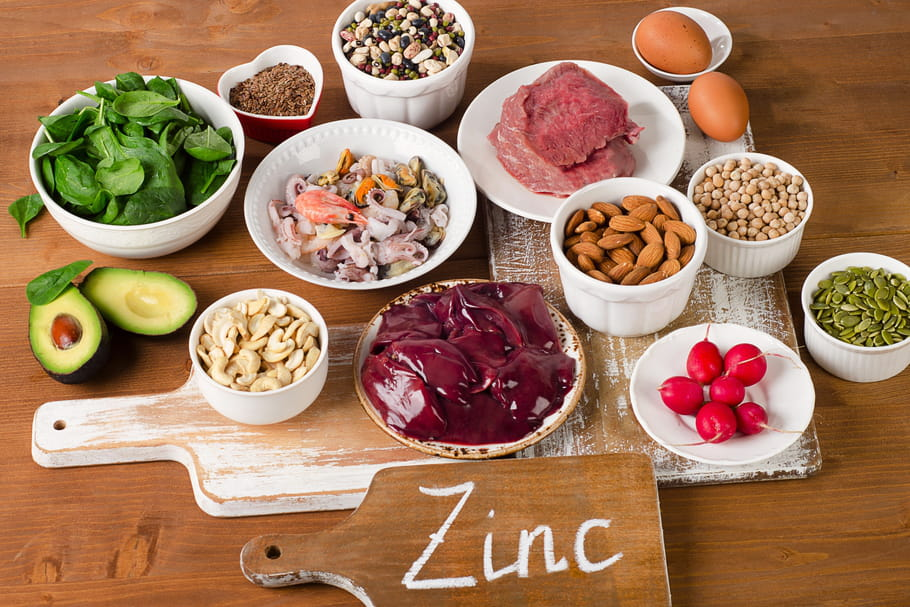 Zinc : rôle, bienfaits, dosage, aliments