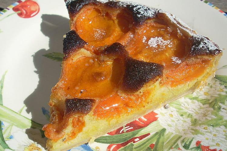 Tarte aux abricots amandine au miel