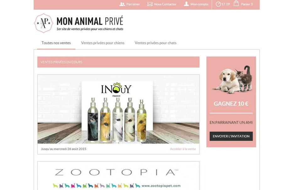 Le premier site de ventes privées pour chiens et chats