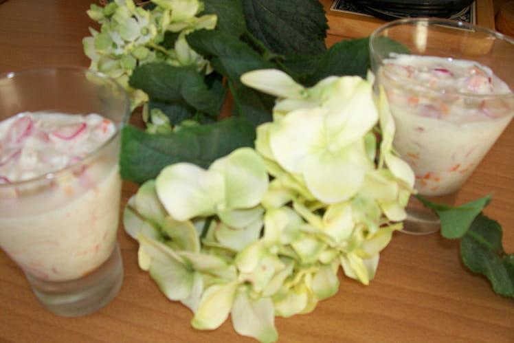 Panaché de fromage blanc au surimi