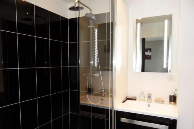 La salle d\'eau, moderne et spacieuse