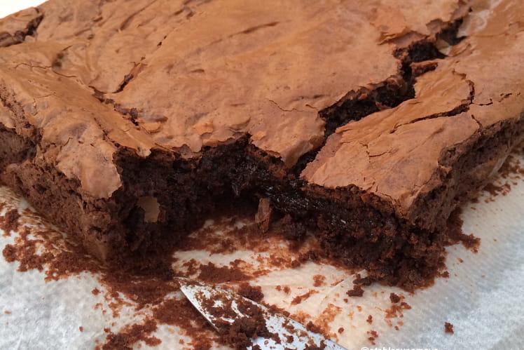 Brownie chocolat, crème de marrons et zestes d'orange