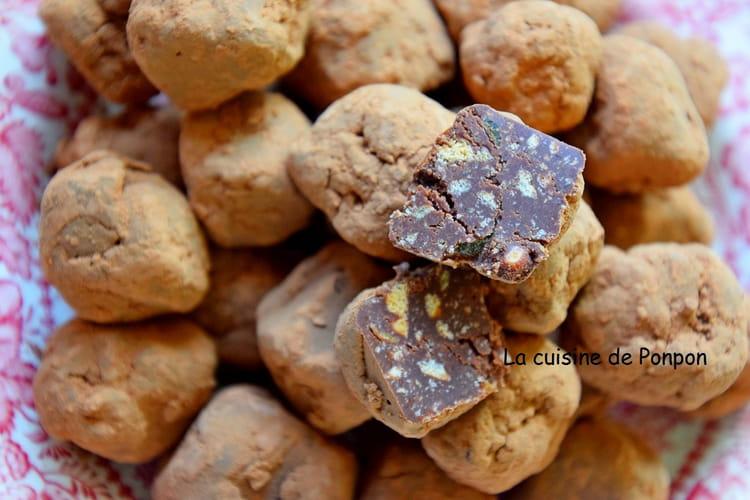 Truffe au chocolat et aux pépites d'abricot