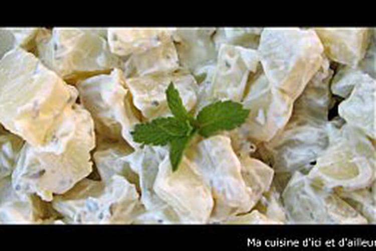 Salade de pommes de terre, menthe et persil