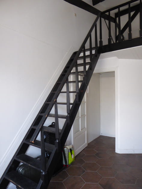 Avant: un escalier imposant qui bouchait la vue