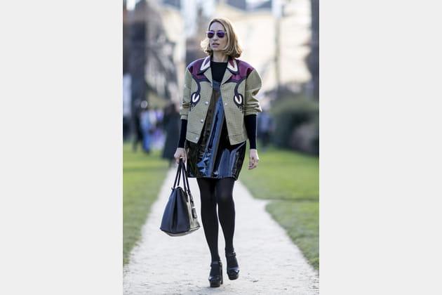 Street style à Paris : la veste manifeste