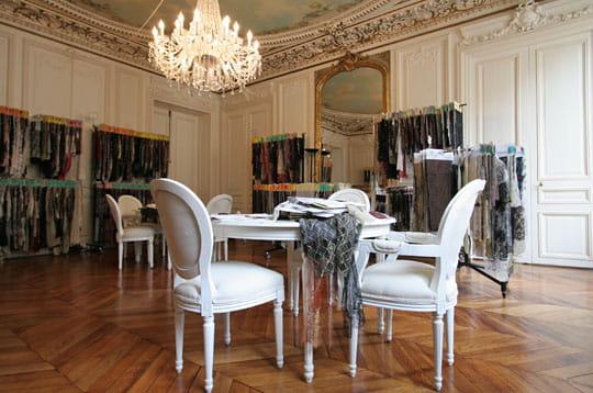 Le showroom de dentelle Solstiss