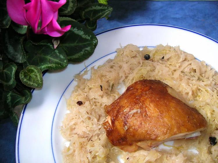 Choucroute au poulet fum - Cuisiner choucroute cuite ...
