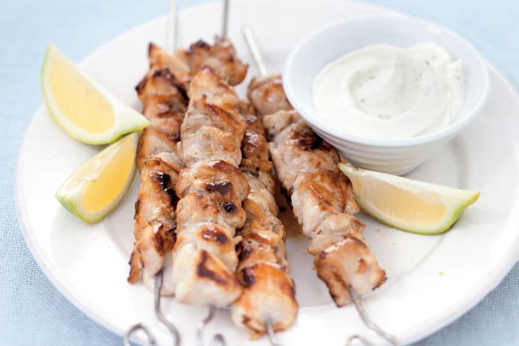 Brochettes de dinde marinée à la libanaise