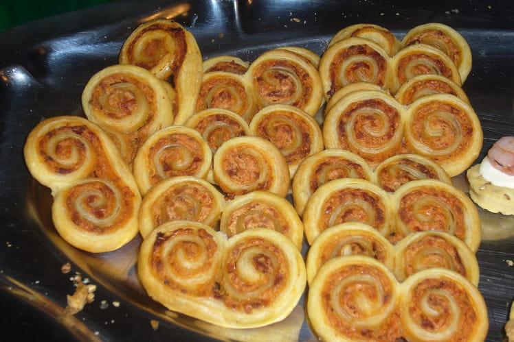 Recette de palmiers ch vre et tomates s ch es la recette facile - Cuisiner les tomates sechees ...