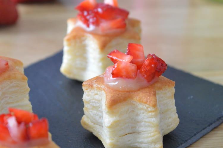 Mini bouchées feuilletées citron et fraise