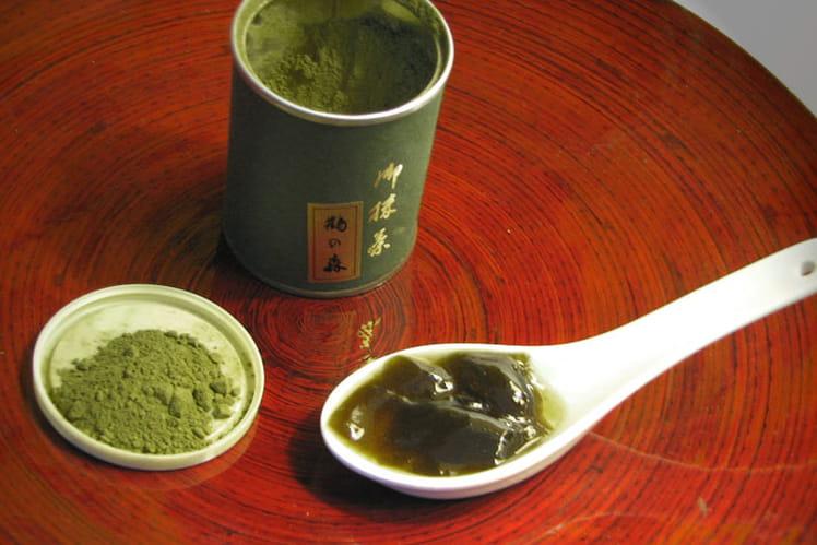 Gelée de pomme au matcha (thé vert)