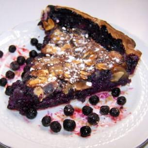 tarte amandes et myrtilles