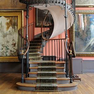 l'escalier du musée gustave moreau à paris.