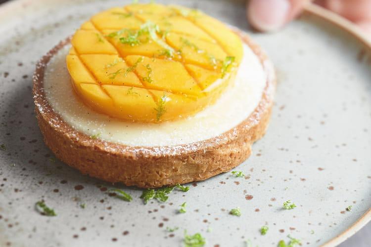 Tartelette à la mangue de la pâtisserie Lenôtre